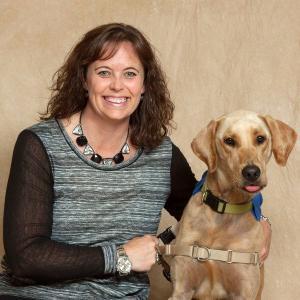 Cheryl Polorek, Deputy Prosecutor in Porter County and her dog Tony